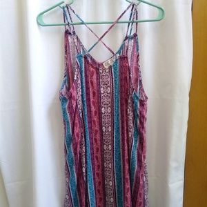 NWT Pink Rose Double Strap X Back Longer Sides